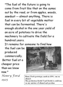 Henry Ford about alcohol fuel